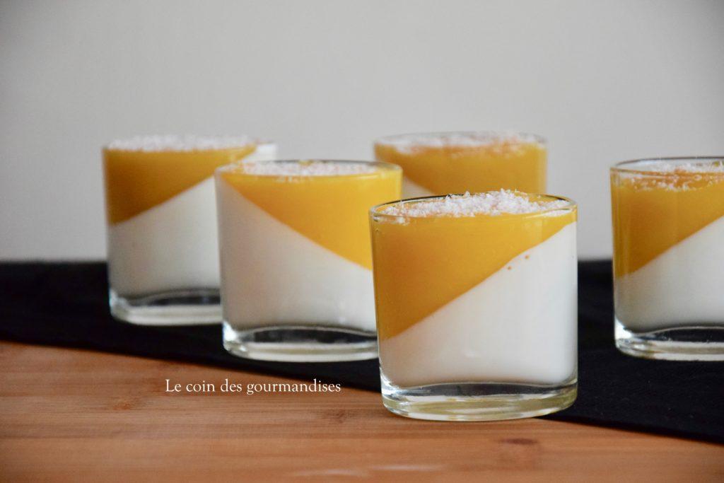 verrines panna cotta au lait de coco et mangue le coin. Black Bedroom Furniture Sets. Home Design Ideas